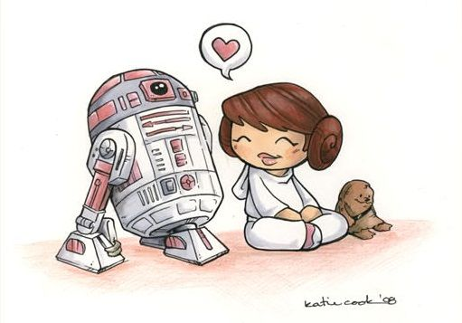 Pink R2 Unit And Lil Leia Star Wars Pinterest Star Wars Star