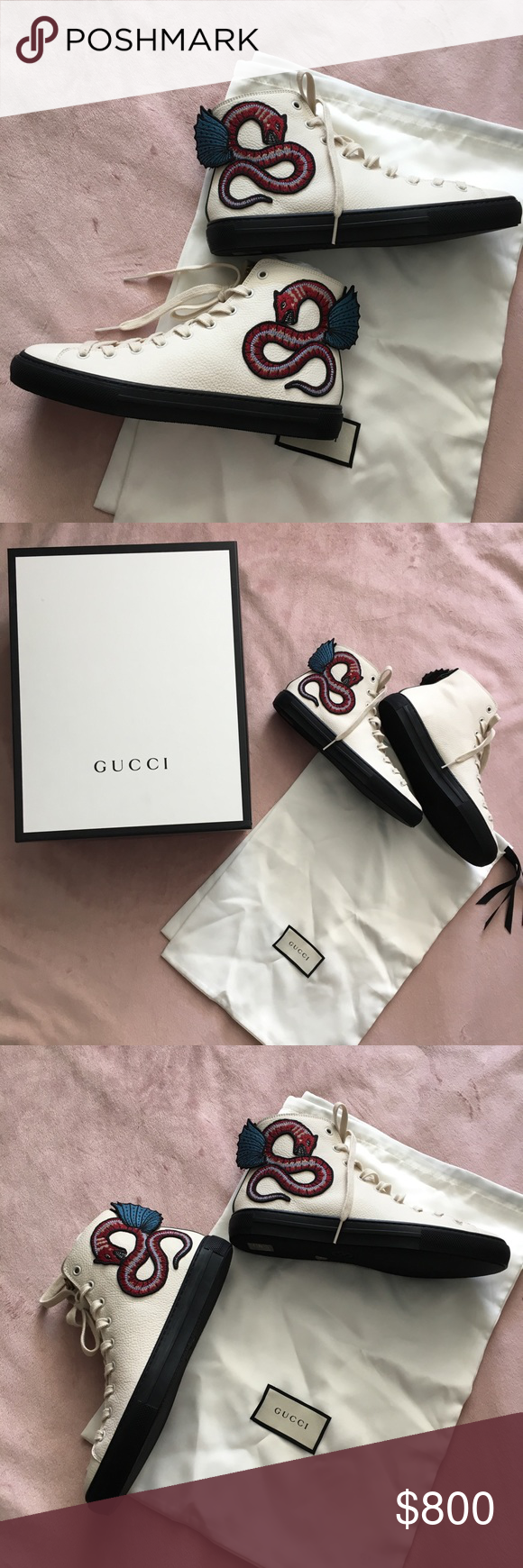 Gucci dragon hightop sneakers NEW fits