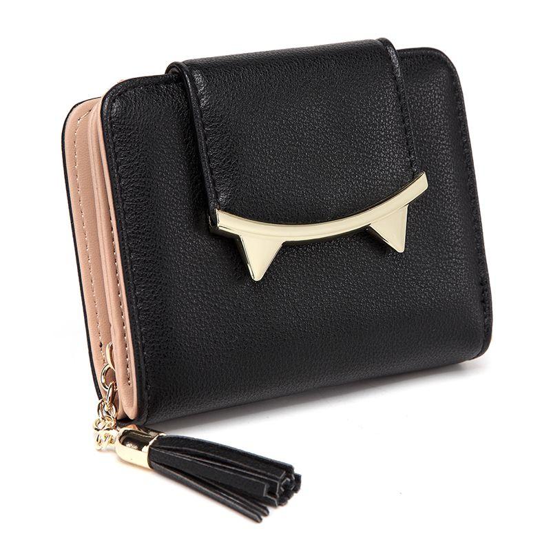 43e747b1362 Leather Wallet Female Card Holder Coin Purse Women Purse Cute Cat ...