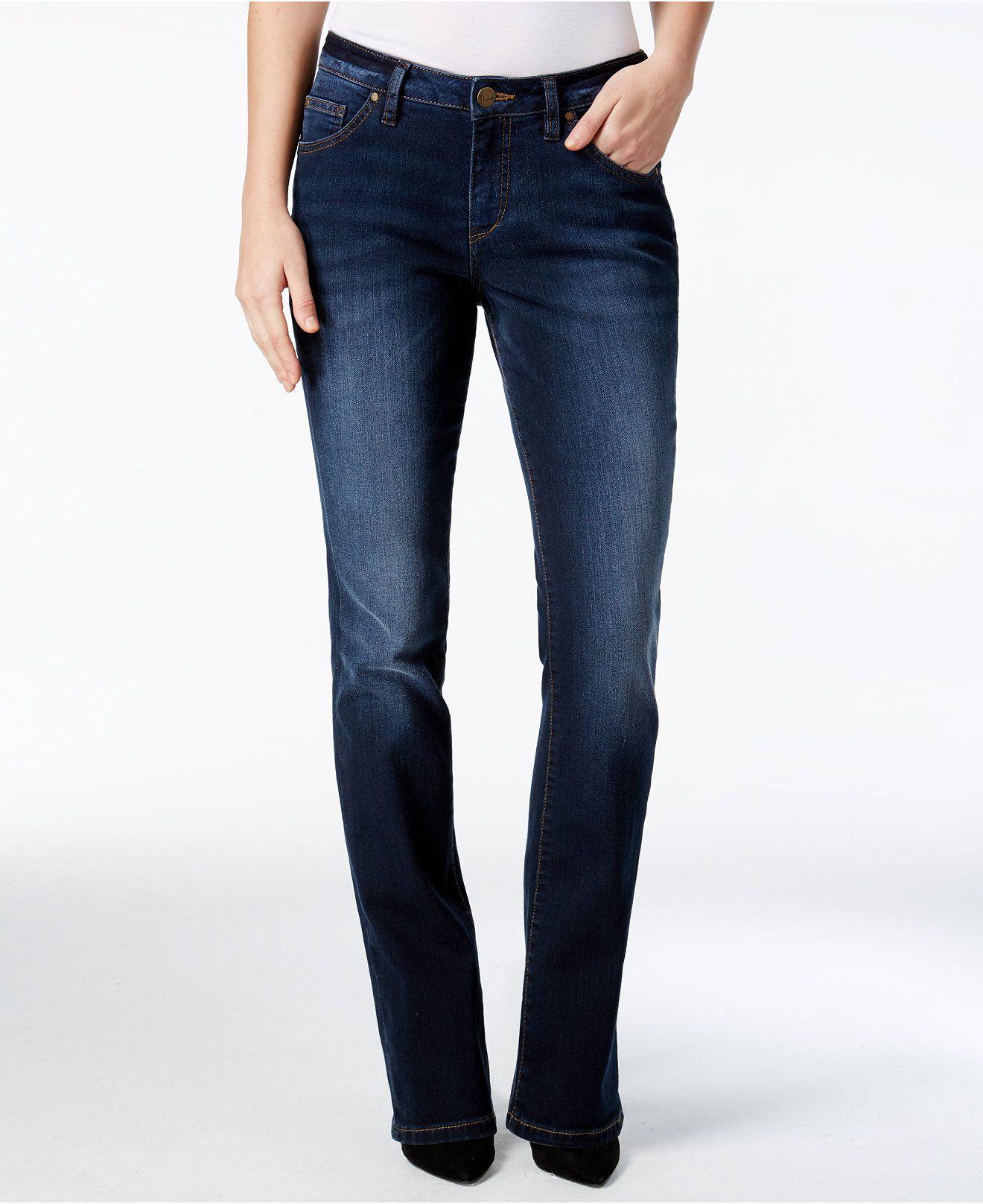 83a0539b74 JAG Atwood Medium Indigo Bootcut Jeans - Jeans - Women - Macy s