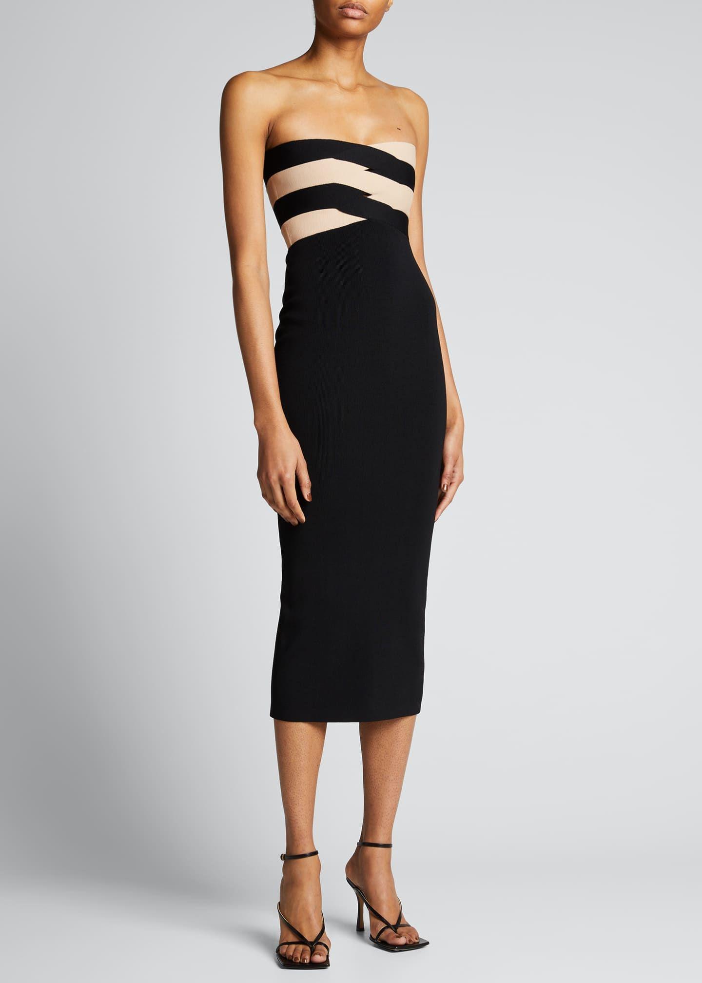 Dion Lee Interlock Bustier Knit Strapless Midi Dress In 2021 Strapless Midi Dress Strapless Dress Formal Midi Dress [ 2016 x 1440 Pixel ]