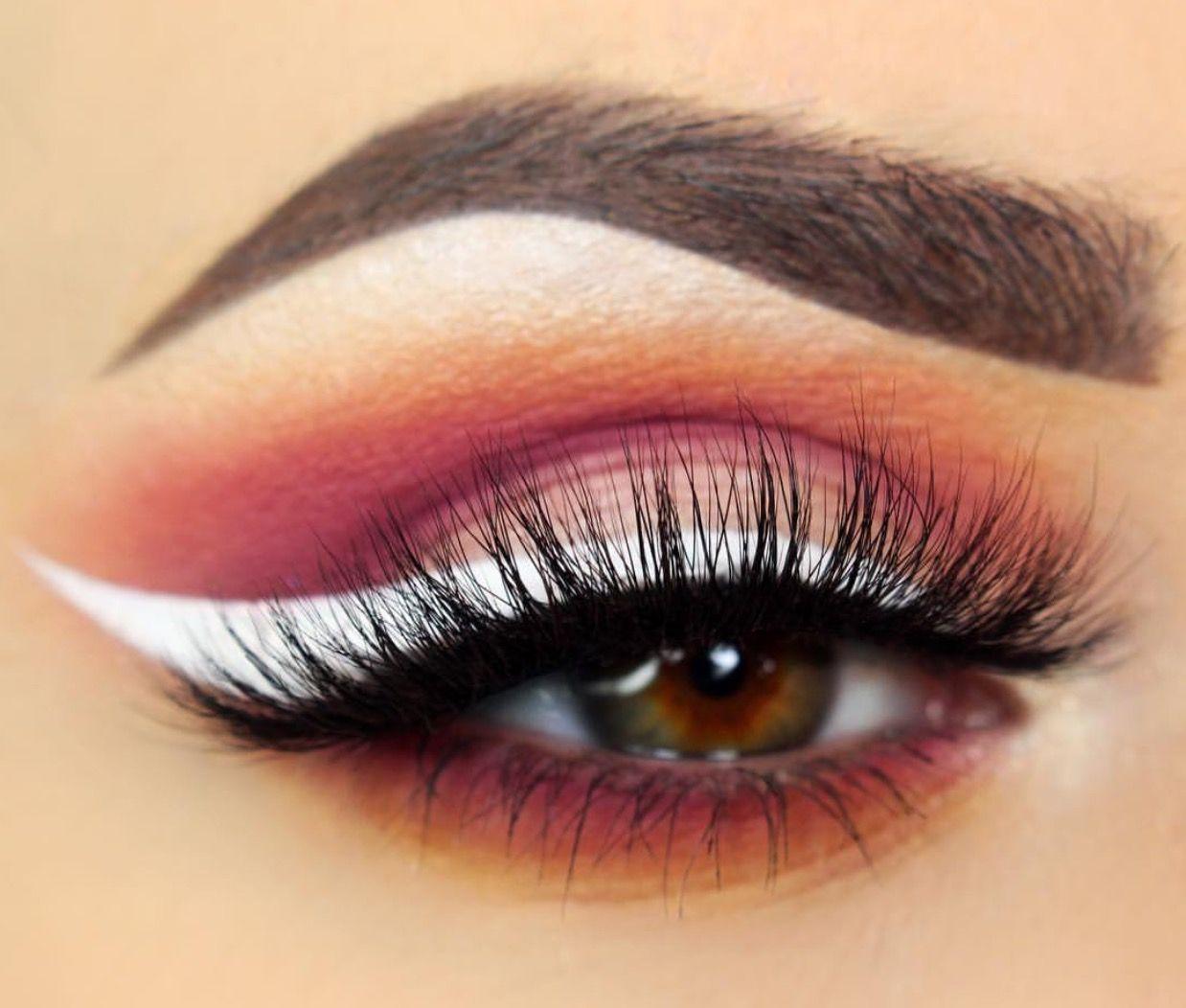 Image result for white eye pencil on brown eyes,nari