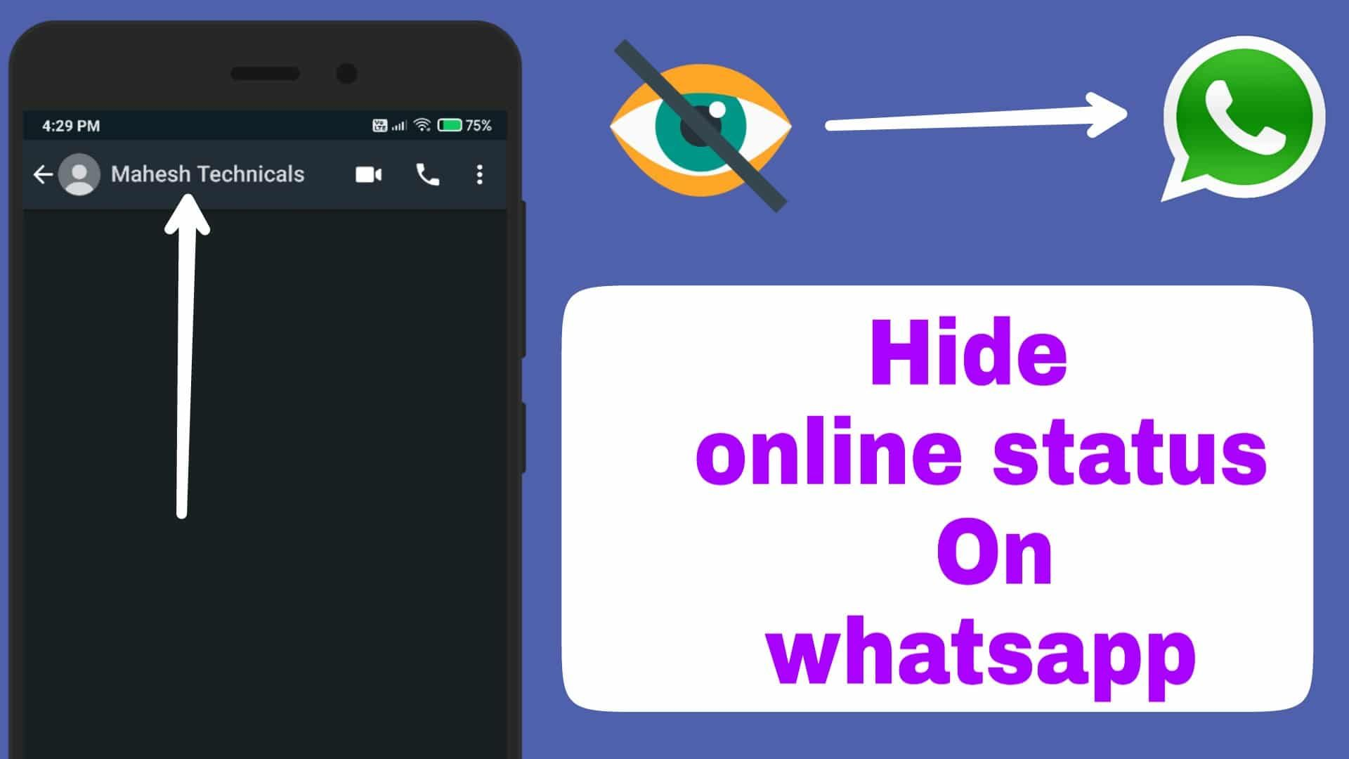 Hide Online Status On Whatsapp Hello Guys Finally And Back With A New Tutorial In This Tutorial I Am Going To Tell You The Best Tanda Baca Adaptasi Aplikasi