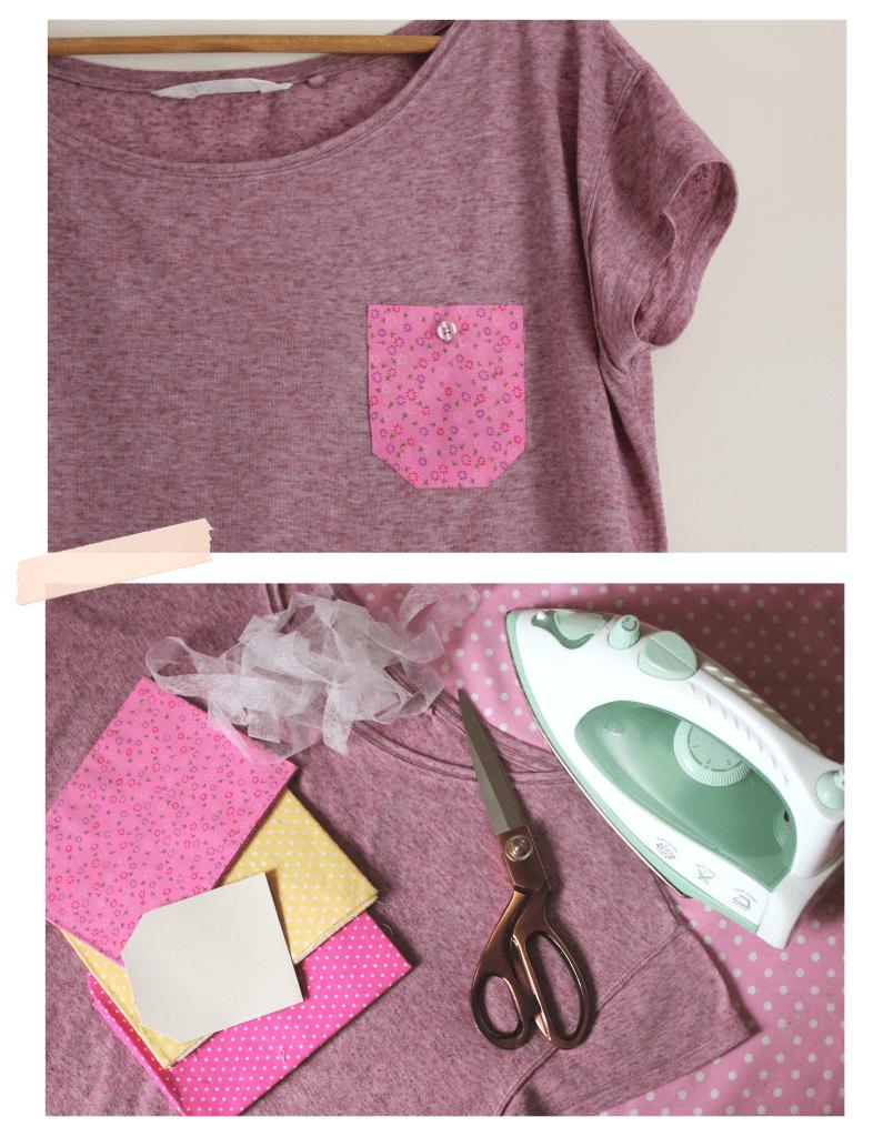 DIY fashion ~ No-sew pocket t-shirt for summer
