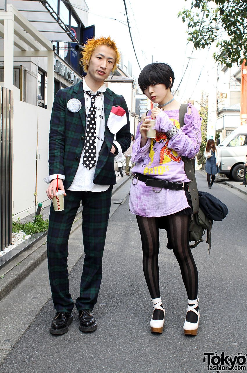 Japanese Street Fashion Retro Punk Harajuku Girl