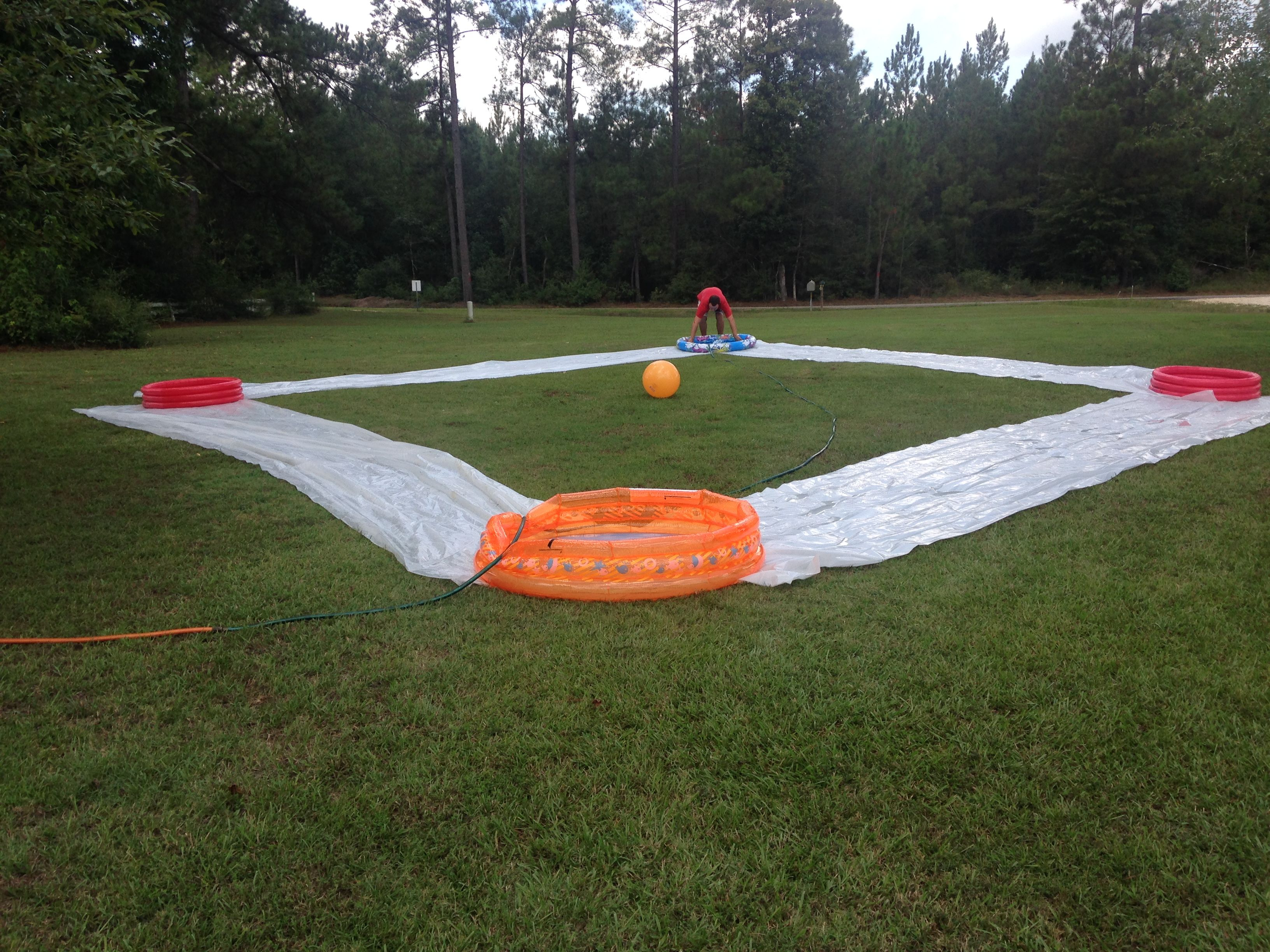 Kids kickball game