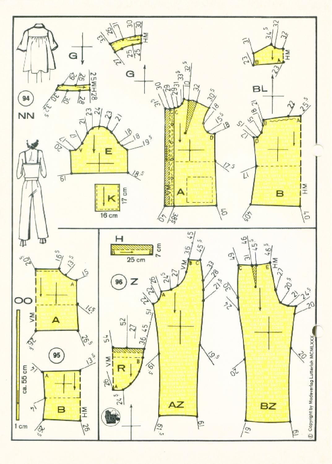 Vintage Sewing Patterns 159 winter 1980 Patternmaking | осень 1980 ...