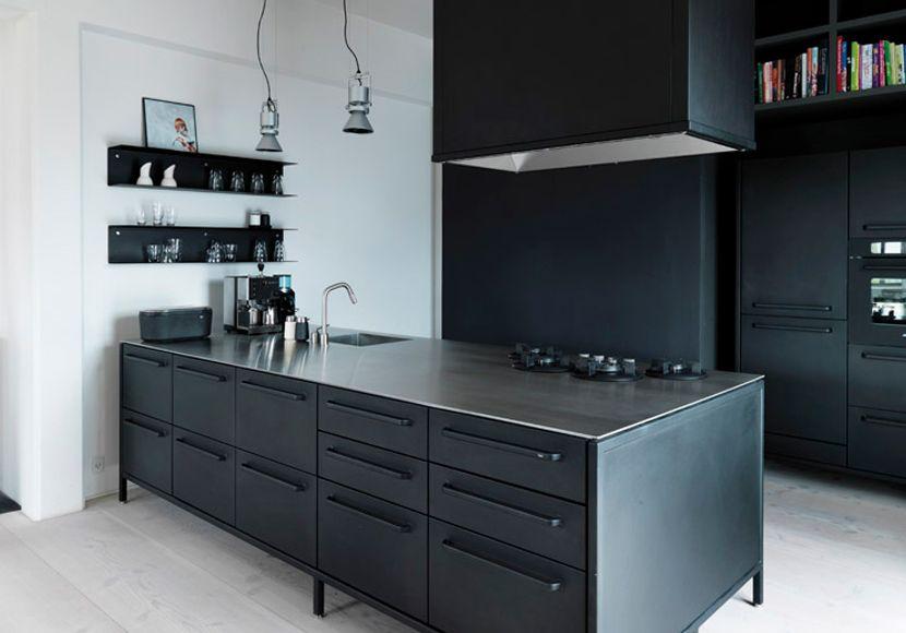 Zwarte Keuken Ideeen : Deze ontwerp ideeën voor een zwarte keuken helpen om je interieur
