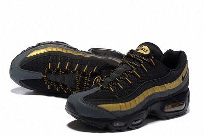 Nike Air Max 95 Essential 20 Anniversary 538416 007 Black Metallic Gold 2b96ff2912