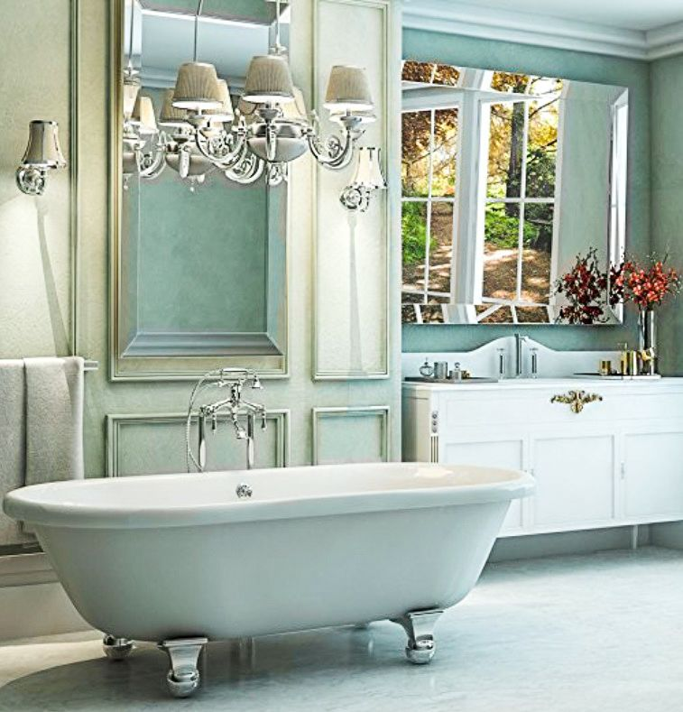 Luxury 72 inch Clawfoot Tub with Vintage Tub Design in White ...