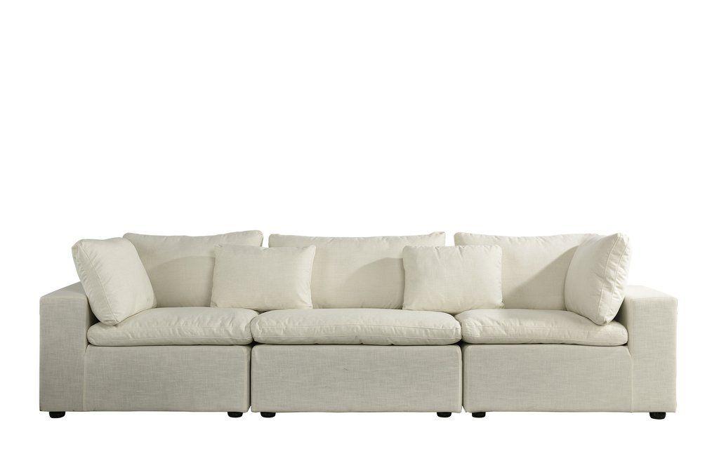 Alvina Contemporary Linen Lounge Sofa | Sofa, Lounge Sofa, Classic Living Room