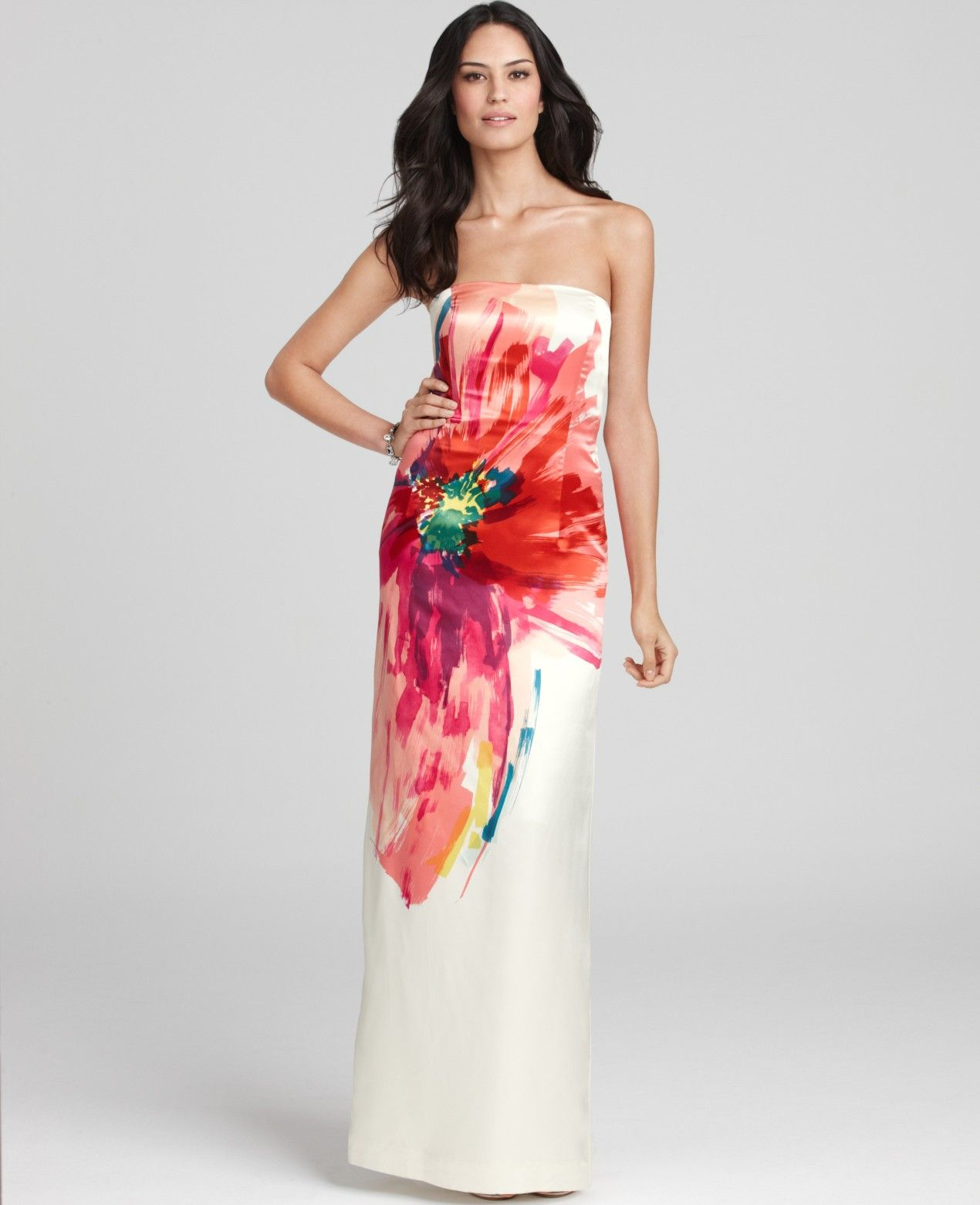Womenus oversized bloom duchess satin gown gowns satin gown and
