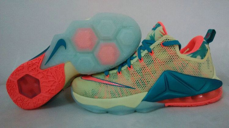 new concept bee70 18f6b LeBron 12 Low LeBronold Palmer Lime Bright Mango 776652 383