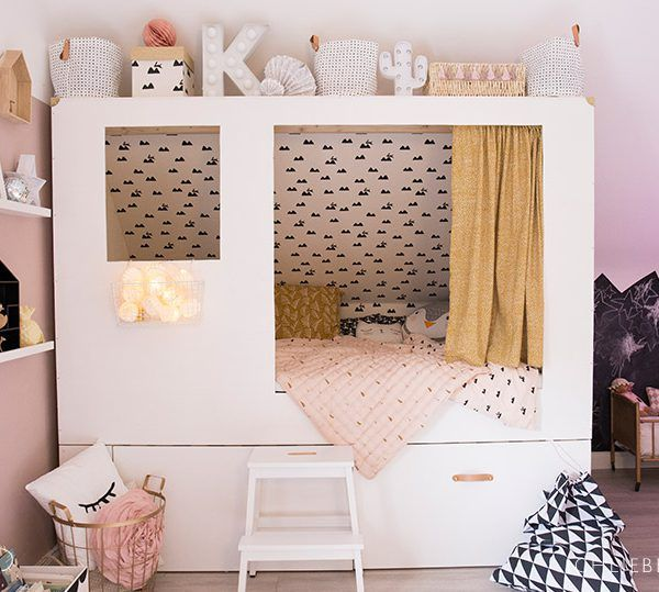 Diy Kojenbett Fürs Kinderzimmer Girls Room Mädchen Bett