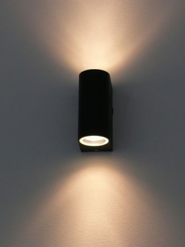 Wandleuchte Fur Aussen Innen 2xgu10 Updown Black 10217 Wandlampe Aussen Wandleuchte Lampen Und Leuchten