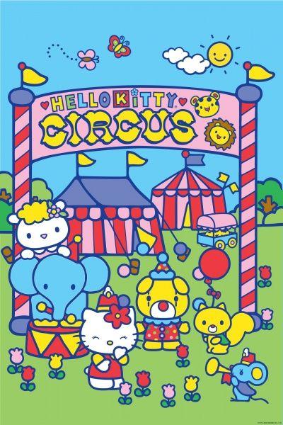 Coloriage Hello Kitty Cirque.Hello Kitty Circus Hello Kitty Birthday Heaven Freya S Turning 7