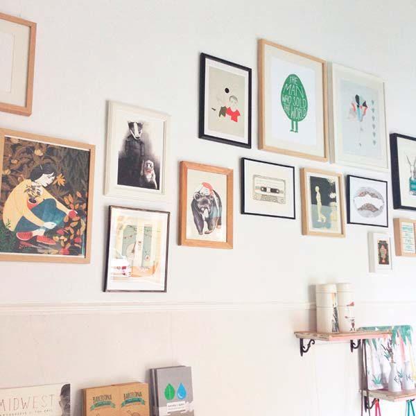 Inspiración para decorar paredes composiciones con cuadros - cuadros para decorar