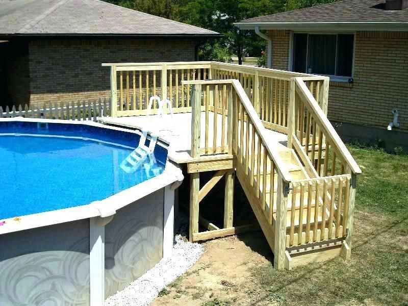How To Build A Deck Around An Above Ground Pool Cost Building Kits Home Decks For Pools Costtobuildadeck
