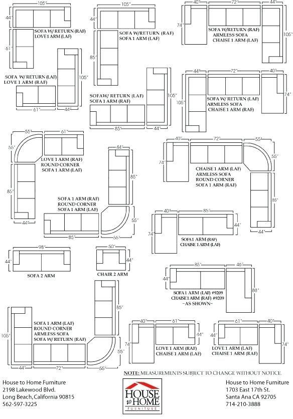 Sectional Sofa Dimensions Standard Sofa Dimension Sofa