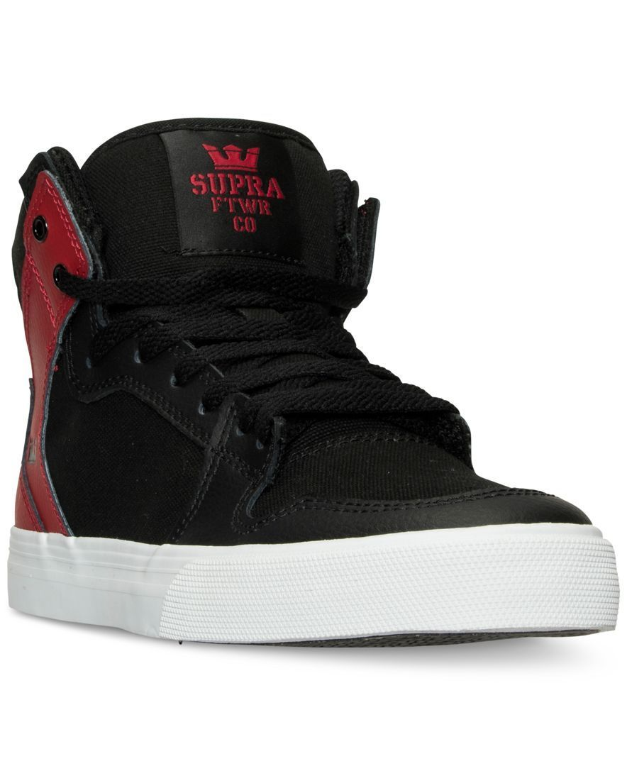 92c94c541eba5 Supra Boys  Vaider Casual Skate High Top Sneakers from Finish Line - Finish  Line Athletic Shoes - Kids   Baby - Macy s