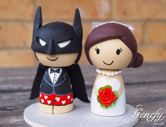 Cute Superhero Wedding Cake Topper