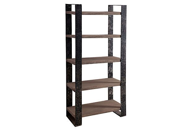 "One Kings Lane - Industrial Elements - Griffin 72"" Shelving Unit"