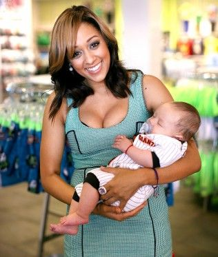 Tamera with her son