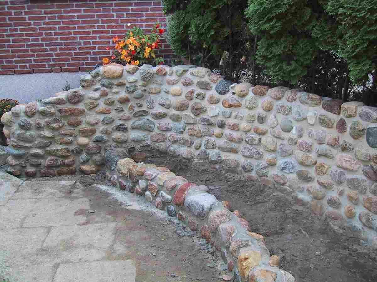 spielerei mit feldsteinen (690×731) | outdoor | pinterest, Garten Ideen