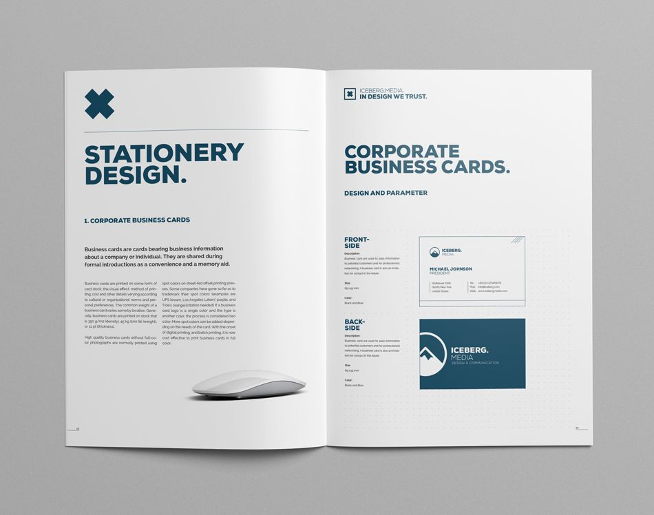 Elite Corporate Design Manual Guide On Behance  Mise En Page