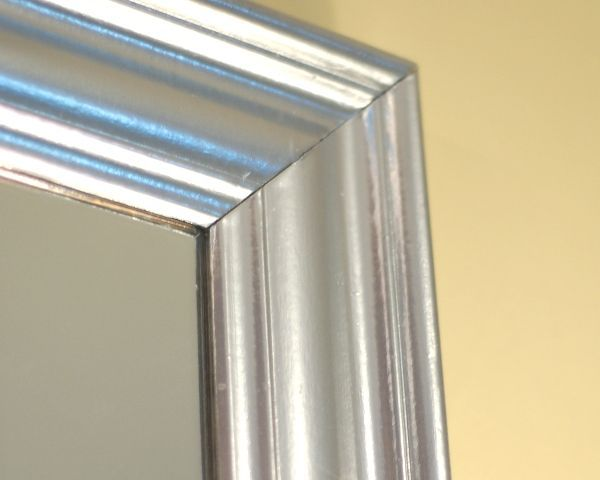 diy quotsilver leafquot mirror using krylon original chrome