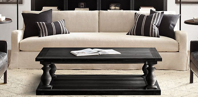 17th c. monastery coffee table | restoration hardware | sofas