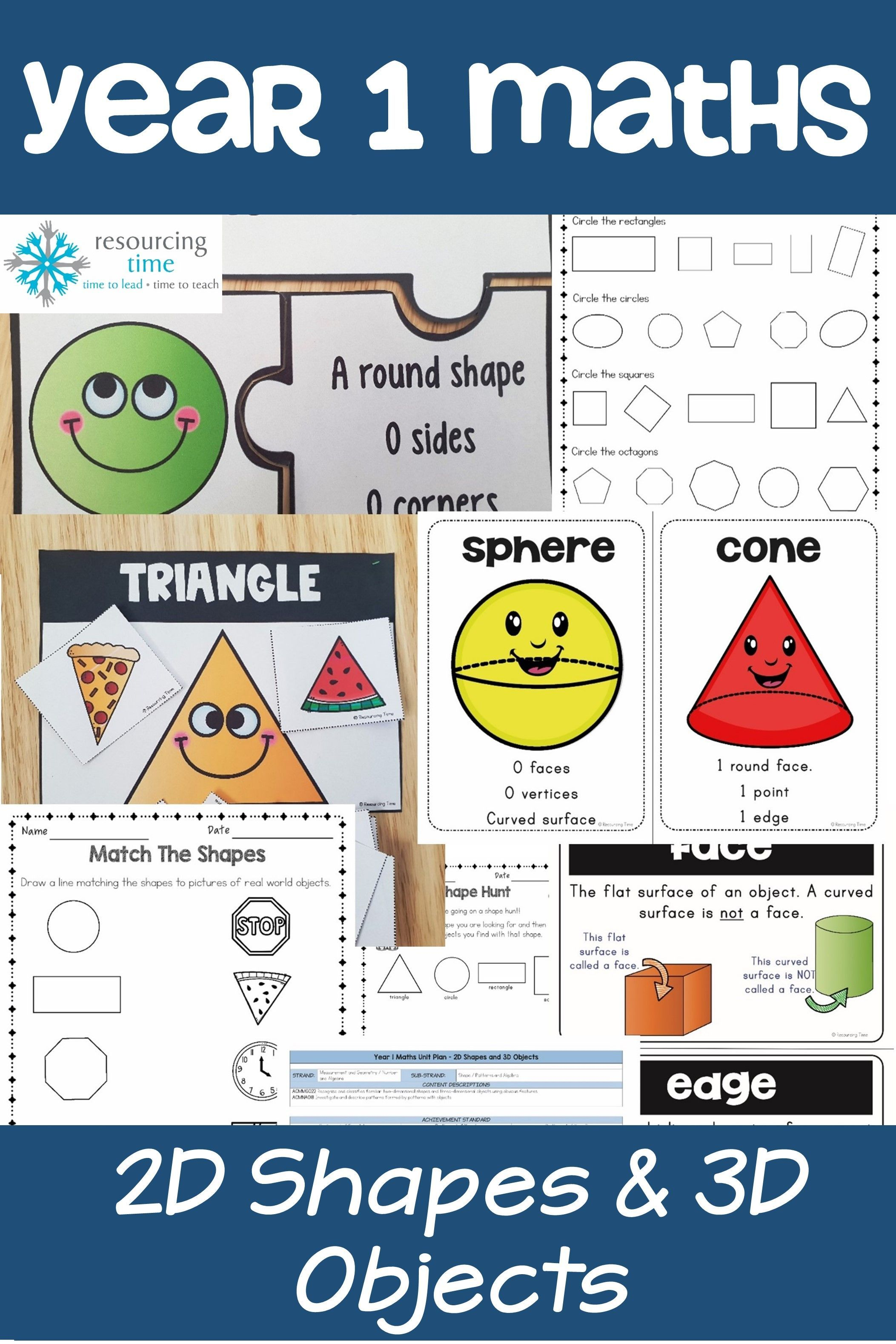 Year 1 Shapes And Objects Program