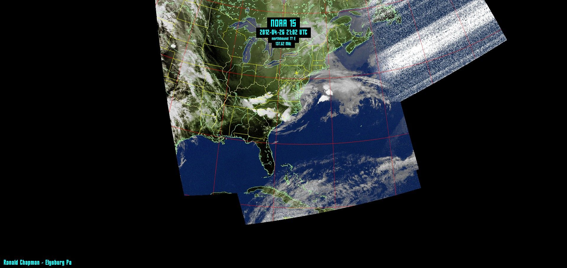 This Is A Composite NOAA Weather Satellite Image I Received In - Real time satellite view