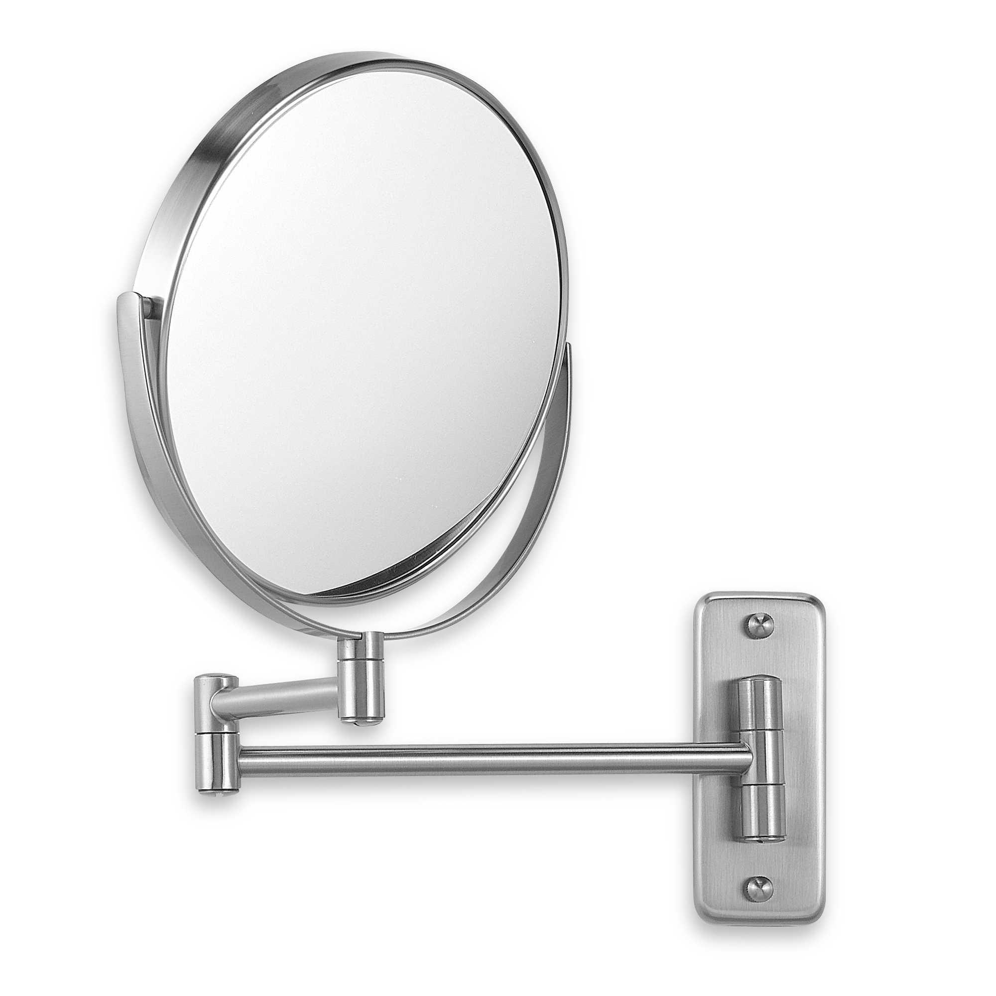 Jerdon WallMount 8X/1X Magnifying Swivel Mirror in Nickel