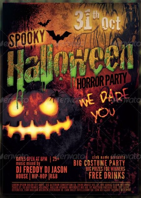 Spooky Halloween Flyer Template HalloWEEN Halloween flyer