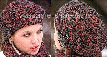Вяжем оригинальный берет крючком из двух нитей   ВЯЗАНИЕ ШАПОК: женские шапки спицами и крючком, мужские и детские шапки, вязаные сумки
