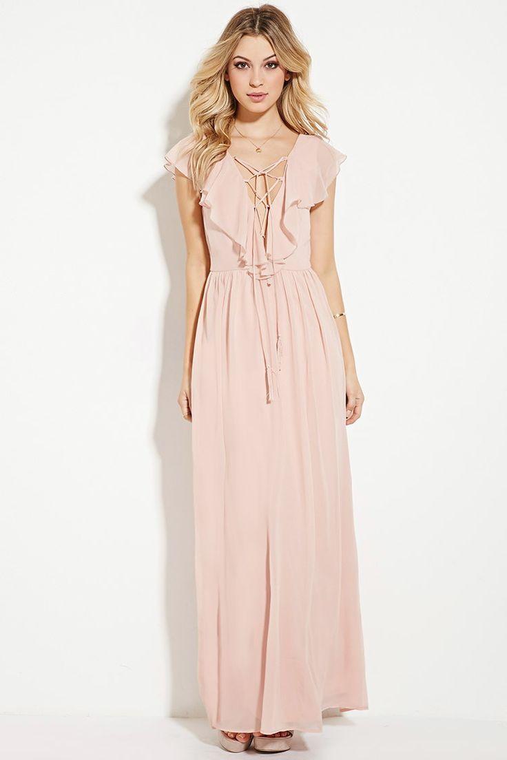Cool maxi dress ruffled chiffon maxi dress forever