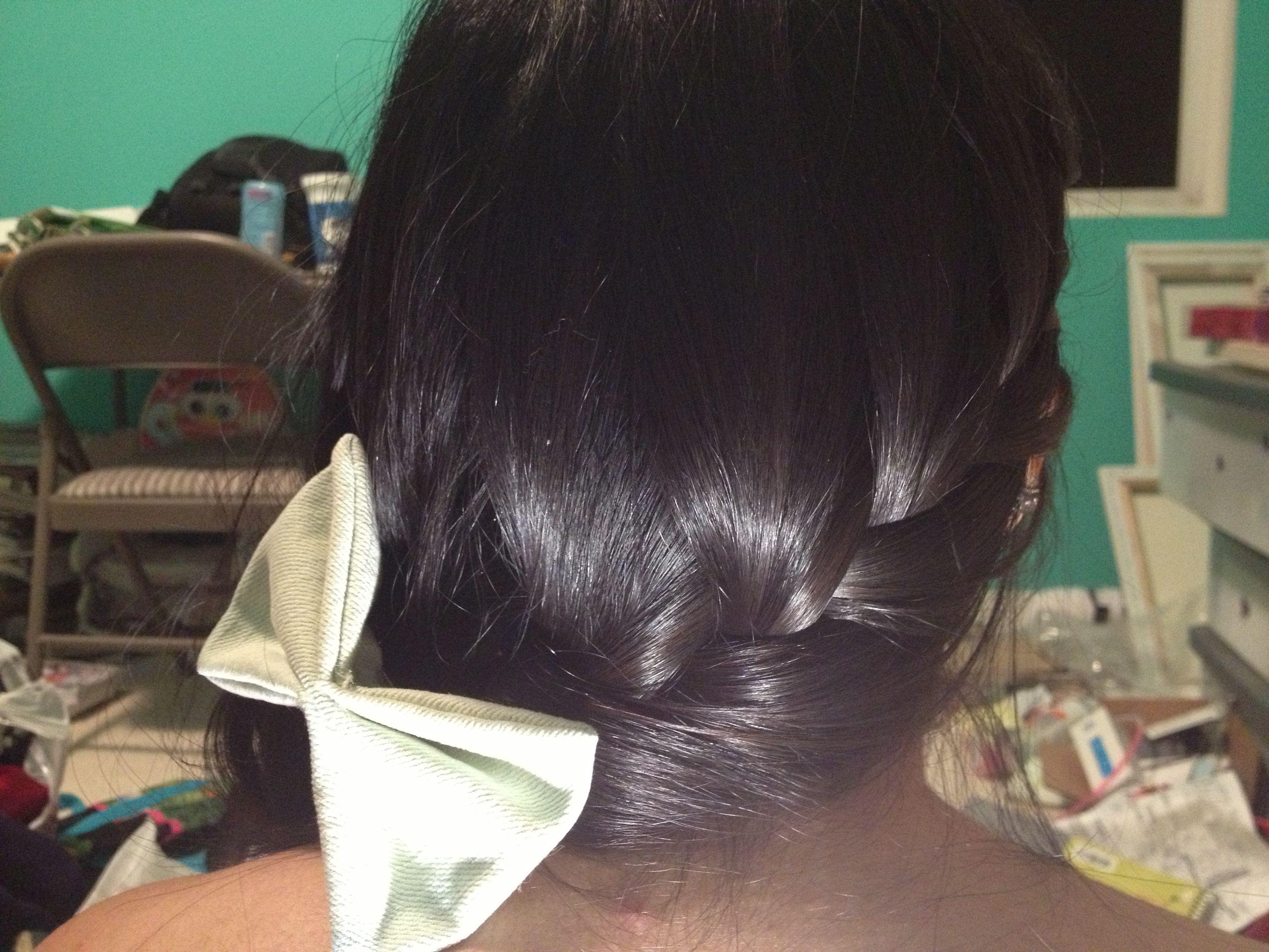 French dutch braid with cute hair bow hairstyles pinterest