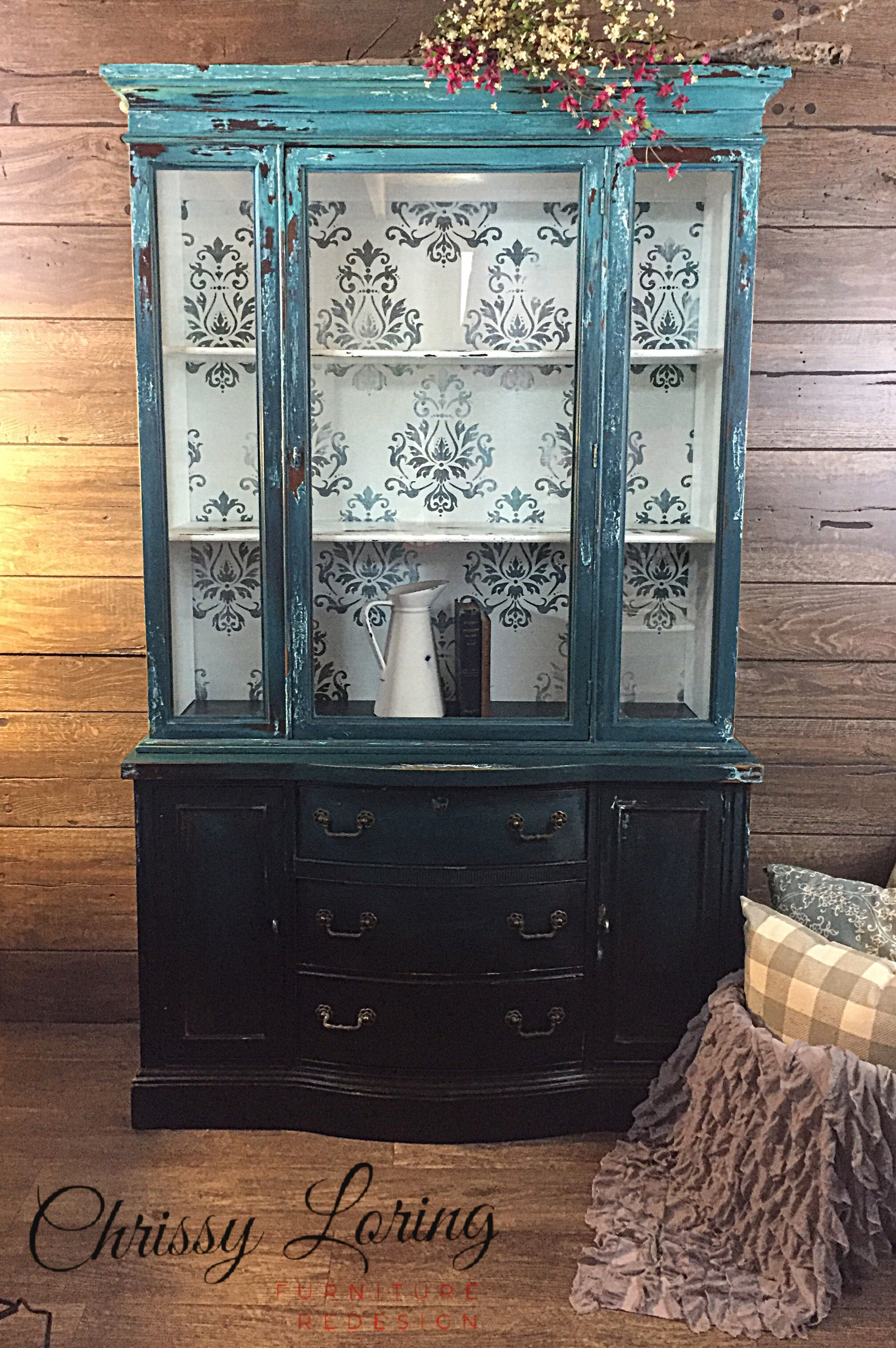 Painted China Cabinet With Images Painted Furniture