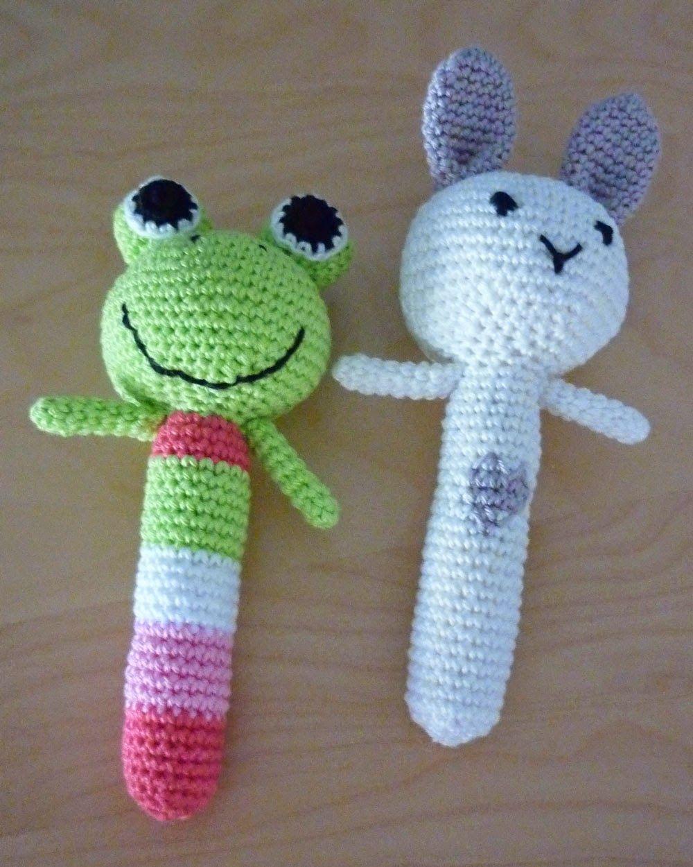 Knoopjesz Haken Rammelaar Kikker En Konijn Babies Crochet Baby