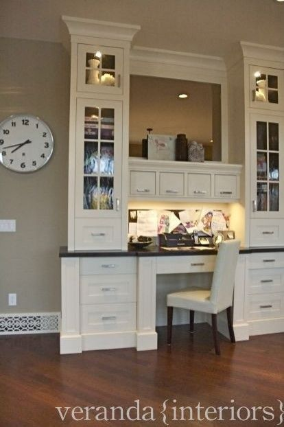 kitchen office pinterest desks. Contemporary Built-in Home Office - This Is Exactly What I Want For My Family Command Center! By Cathy Granville Kitchen Pinterest Desks