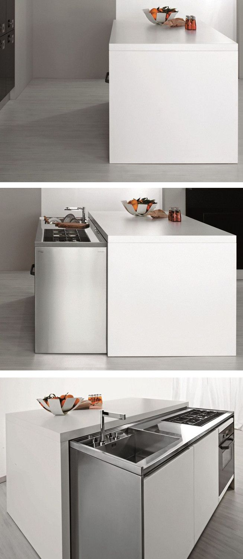 Contemporary style hideaway #kitchen MET by Aran Cucine ...