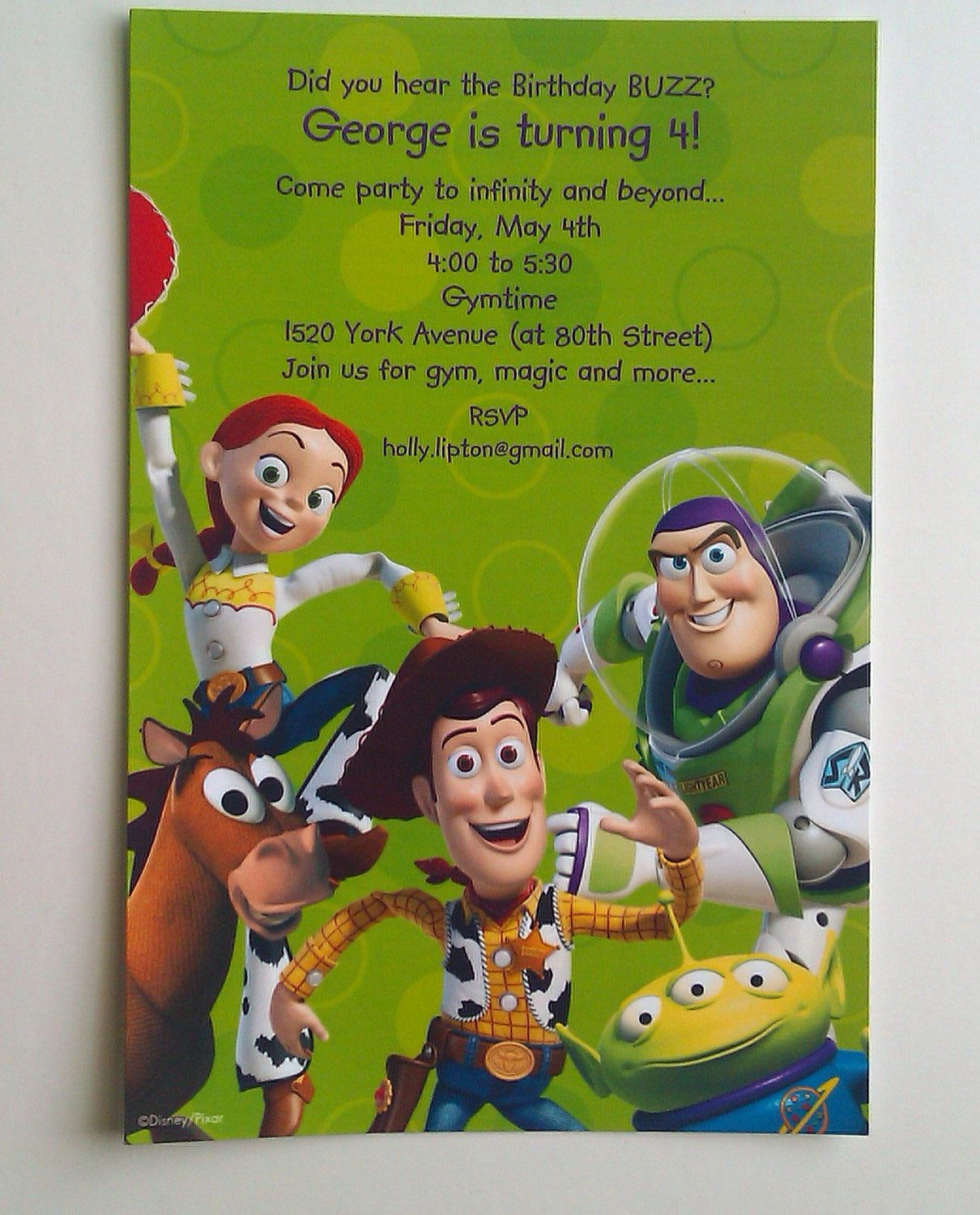 10 Printed Disney Toy Story Invitations Personalized Toy Story