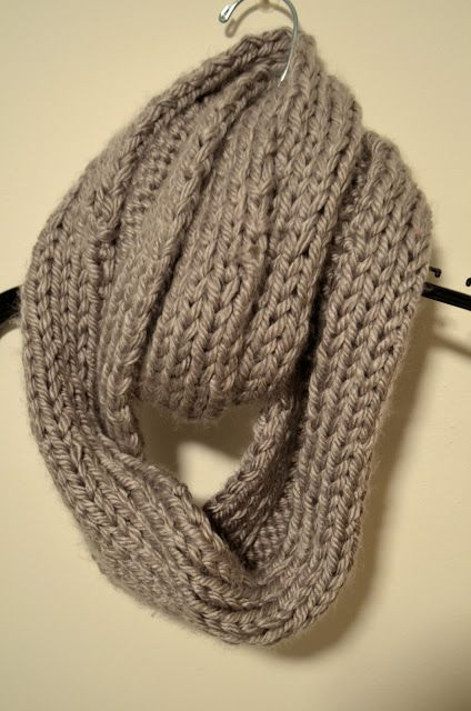 Im Working On A Knitted Infinity Scarf Right Now This Is A Nice