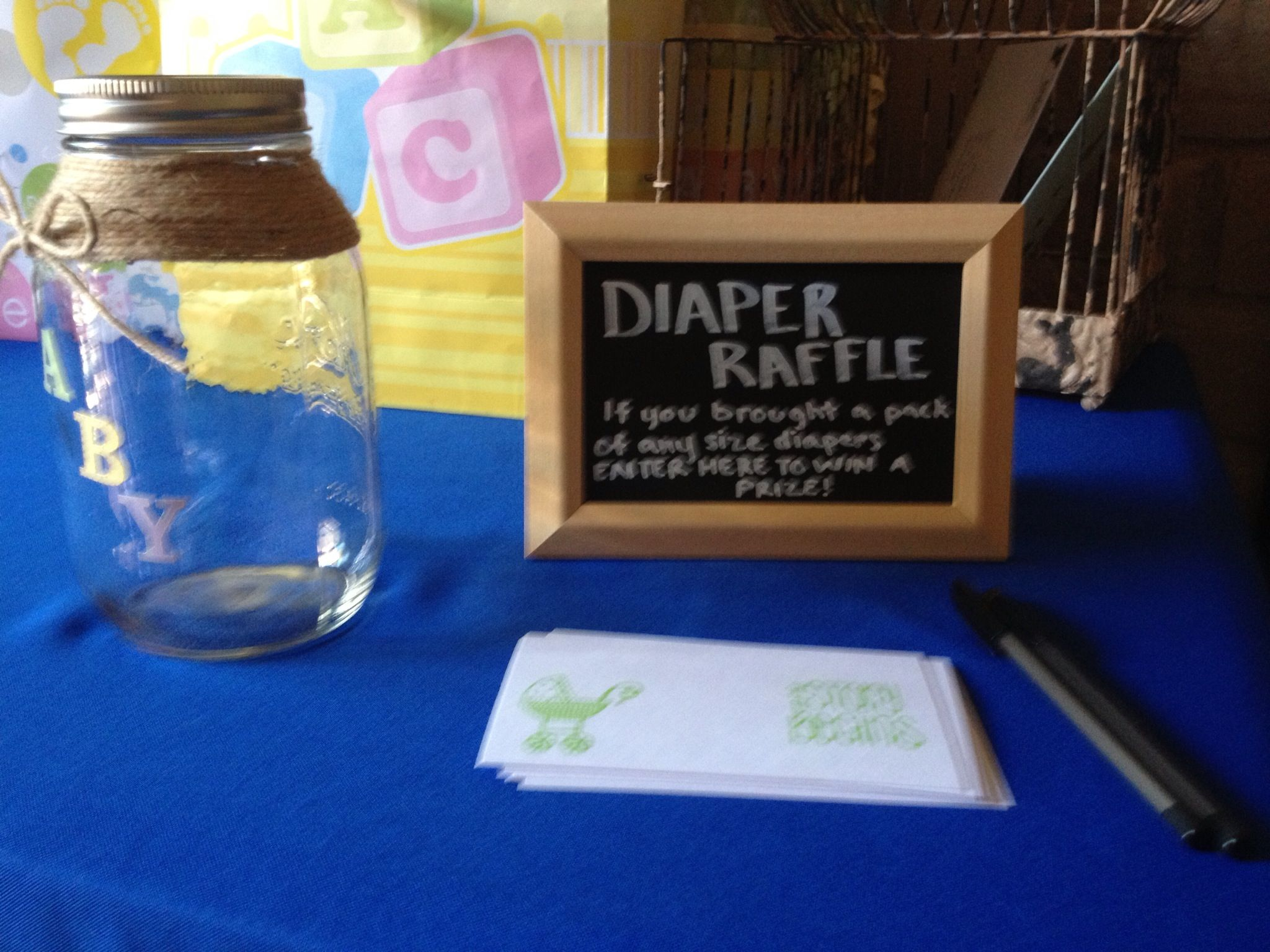 BBQ Baby Shower Diaper Raffle