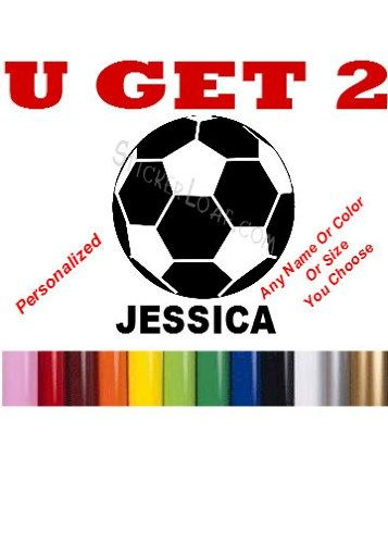 Soccer ball custom sports name personalized soccer decal sticker