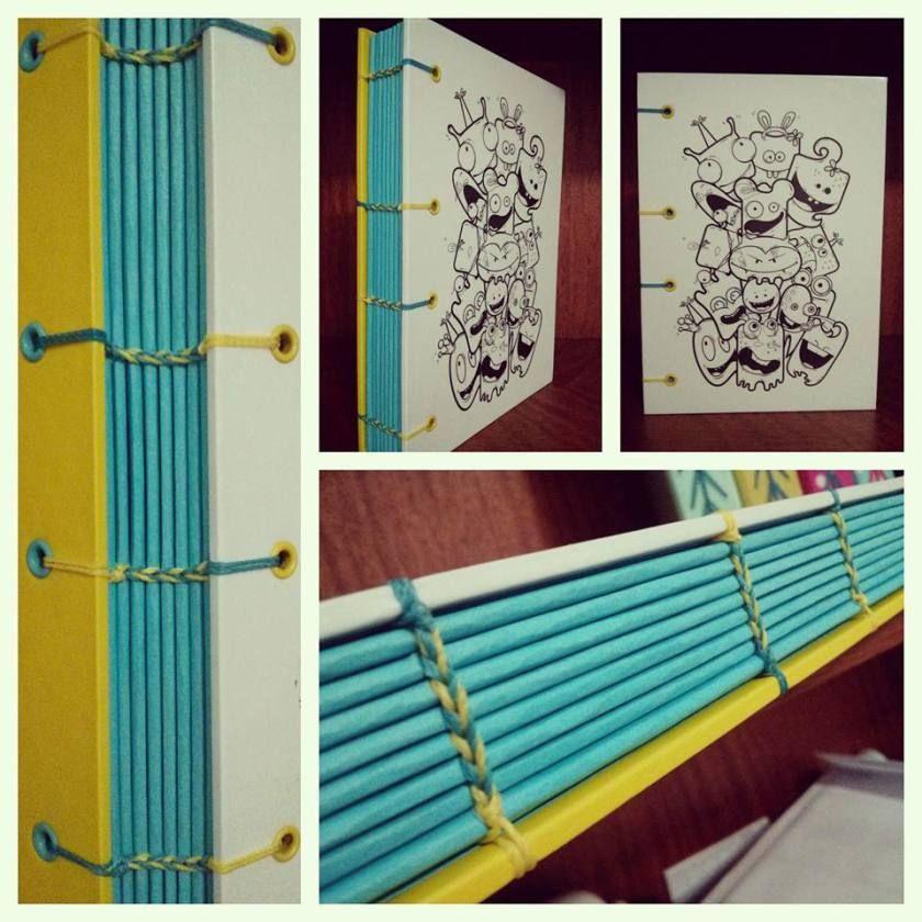 Little Monsters Notebook   Bookbinding   Handmade   by Fernanda Pasqualetto