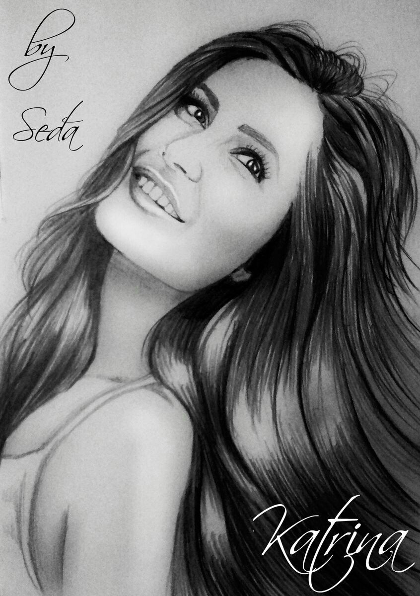 Katrina kaif sketch indian celebrities bollywood celebrities ganesha art portrait sketches