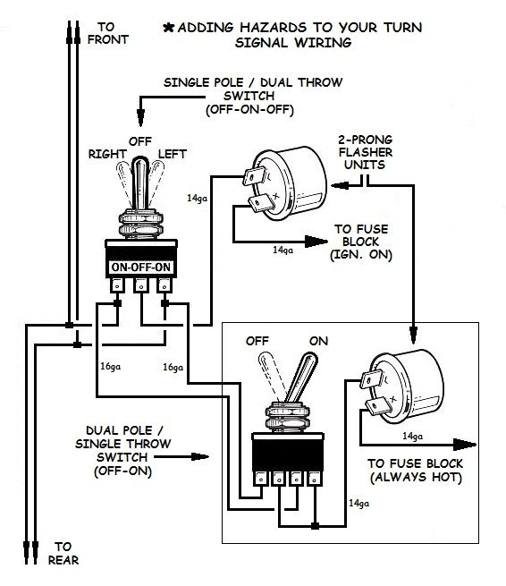 How to Add Turn Signals and Wire Them Up | Electricity, Auto repair,  Automotive repair | Turn Signal Wiring Diagram |  | Pinterest