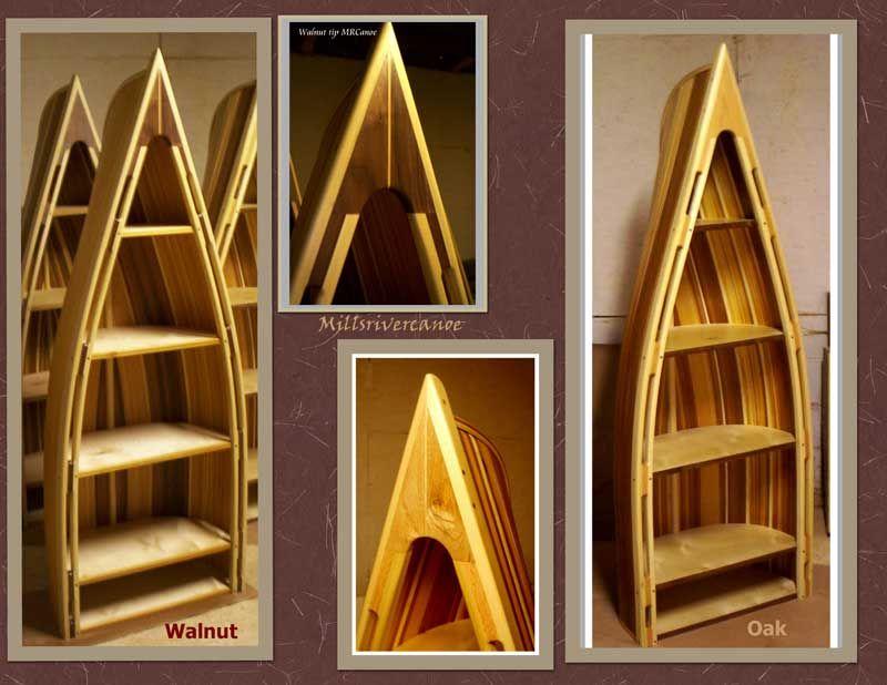 Repurposed Canoe   Bookcase